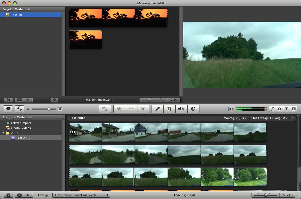 iMovie AVCHD editing