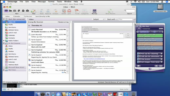 Microsoft Entourage 2008 Mac Screenshot
