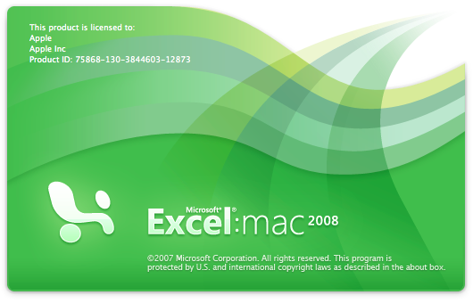 Excel 2008 Mac