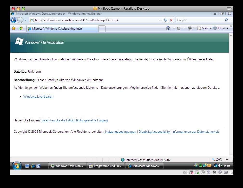 Windows Vista und das Videoformat MP4